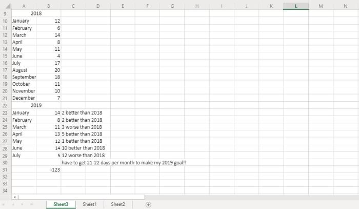 Image of my online excel writing database